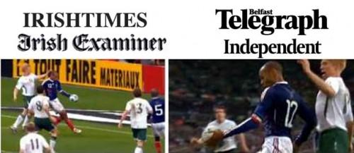 Les Unes de la presse Irlandaise