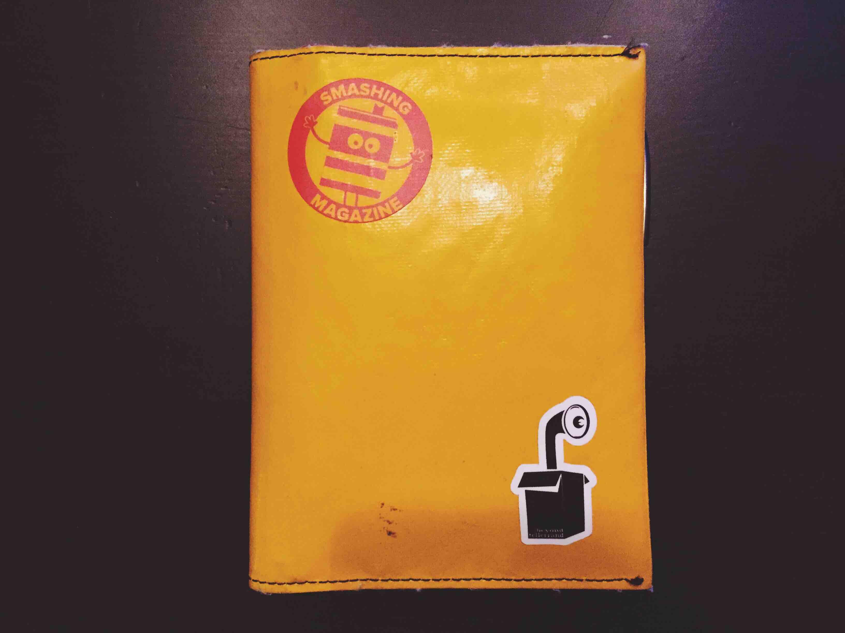 My Freitag notebook